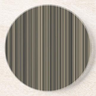 Brown Streifen-Sandstein-Untersetzer beige Taupe Getränkeuntersetzer
