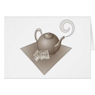 Brown-Teekanne mit Teebeuteln Karte