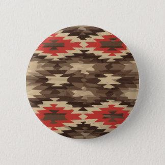 Brown-/Terrakotta-Navajo-Muster Runder Button 5,1 Cm