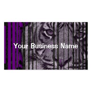 Brown-Tiger-Brüllenmonogramm-Visitenkarten Visitenkarten