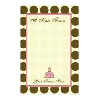 Brown-Tupfen-Mode-Briefpapier für Lehrer Bedrucktes Büropapier