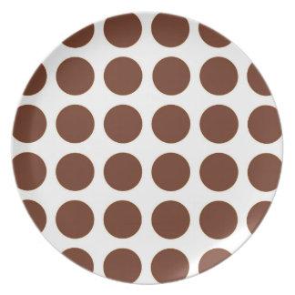 Brown-Tupfen Teller