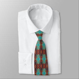 Brown-Türkis-orange Rot-eklektischer ethnischer Personalisierte Krawatten