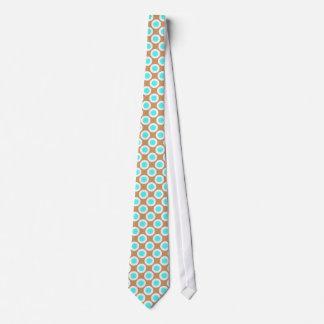 Brown-Türkis-Retro Polka-Punkt-Krawatte Krawatte