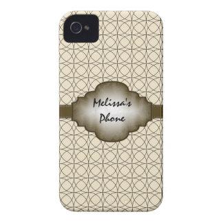 Brown u. beige Vintager Case-Mate iPhone 4 Hüllen