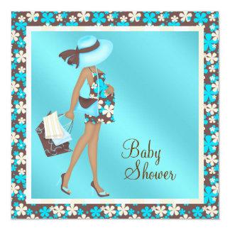Brown und aquamarine blaues karte