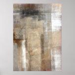 Brown und beige abstrakter Kunst-Plakat-Druck