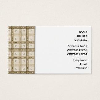Brown und beige Karo-Muster Visitenkarte