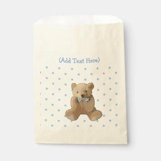 Brown und blaue Teddybär-Bevorzugungs-Taschen Geschenktütchen