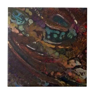 Brown und blaues abstraktes keramikfliese
