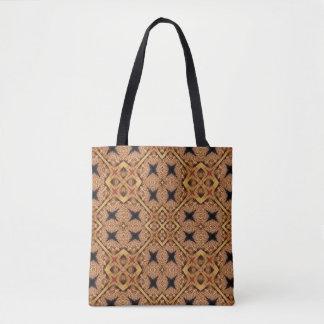 Brown- und Creme-Mosaik-Muster Tasche