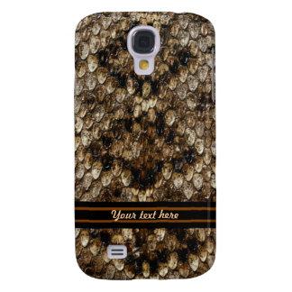 Brown- und Elfenbein-Reptil Galaxy S4 Hülle
