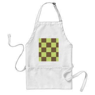 Brown und gelbes Schachbrett Schürze