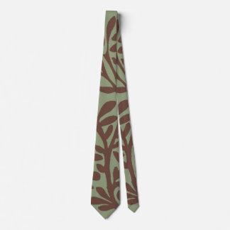 Brown und grüne Pflanzen-Niederlassungs-Krawatte Krawatte