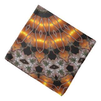Brown und lila abstraktes konzentrisches Muster Halstuch