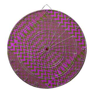 Brown und rosa Wellen-Muster Dart-scheibe
