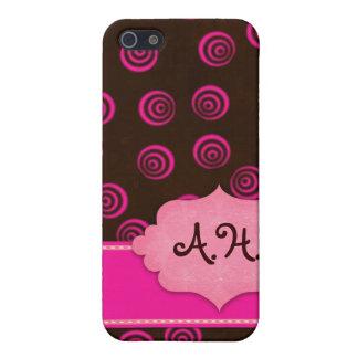 Brown und Rosa-Wirbler Girly Fall Hülle Fürs iPhone 5