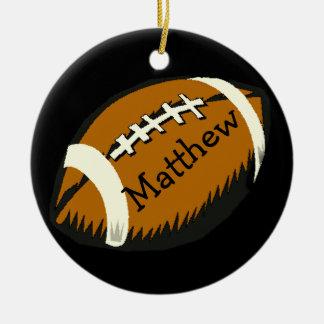 Brown und schwarze Fußball-Sport-Verzierung Keramik Ornament