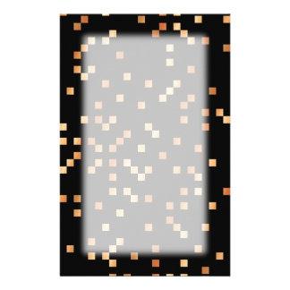 Brown- und TAN-Quadrate auf Schwarzem Bedrucktes Papier