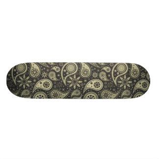 Brown- und TANpaisley Entwurfs-Muster-Hintergrund Skateboardbretter