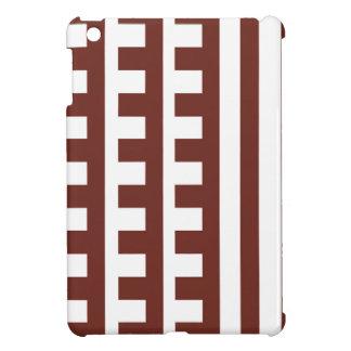 Brown und Weiß-Kamm-Zahn iPad Mini Hülle