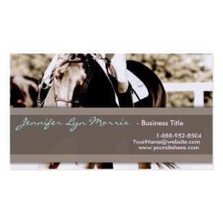 Brown und Weiß-Show-Pferd Visitenkartenvorlage