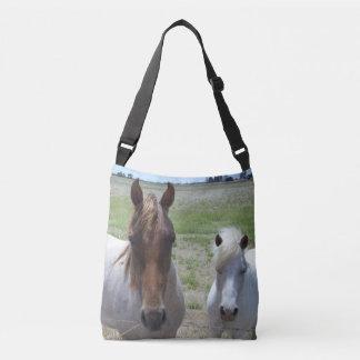 Brown und weiße Ponys, Tragetaschen Mit Langen Trägern