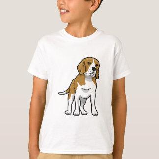 Brown und weißer Beagle T-Shirt