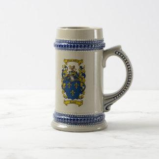 Brown-Wappen Stein/Brown-Familienwappen Bierglas