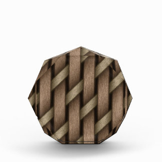 Brown-Webart vom Korbgewebe Acryl Auszeichnung