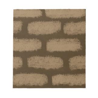 Brown-Ziegelstein-Muster Notizblock