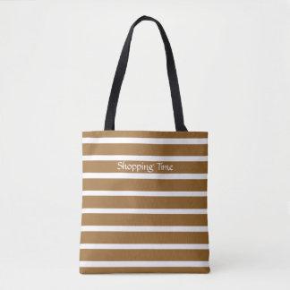 Brown-Zuckerperson-Streifen Tasche