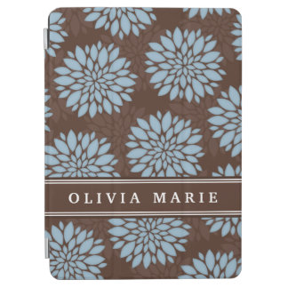 Brownnamensbaby-Blau-Blumen-Blüten-Muster iPad Air Cover