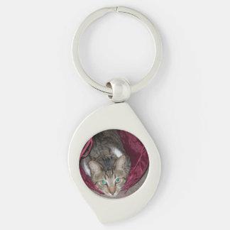 Browntabby-Katzen-Strudel Keychain Schlüsselanhänger