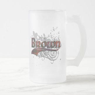 Browntartan-Schmutz Mattglas Bierglas