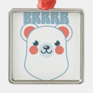 Brrrr Bär Silbernes Ornament