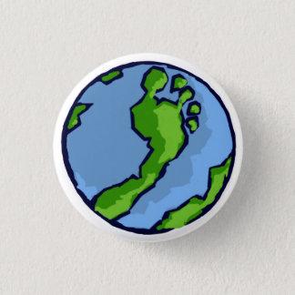 BRS künstlerische grüne Fuß-Kugel rund Runder Button 3,2 Cm