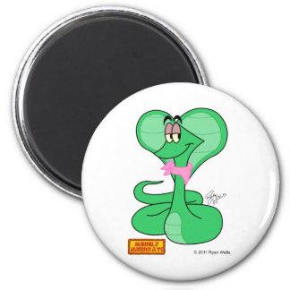 Bruce der homosexuelle vegane Kobra-Magnet Kühlschrankmagnet