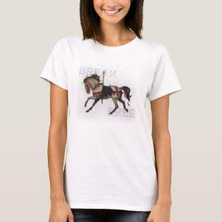 """""""Bruch-freies"""" Karussell-Pferdet-stück T-Shirt"""