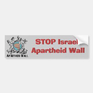 Bruch-israelische Apartheids-Wand Autoaufkleber
