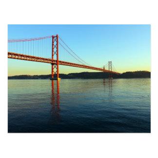 Brücke 25 des Aprils, Lissabon, Portugal, Postkarte