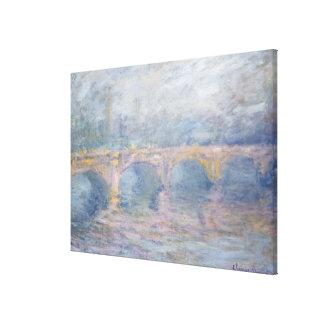 Brücke Claude Monets | Waterloo, London, am Leinwanddruck