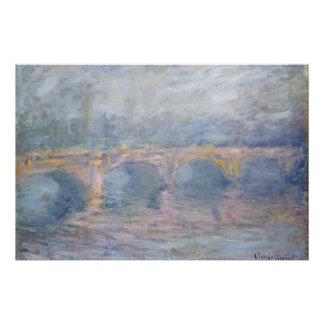 Brücke Claude Monets | Waterloo, London, am Poster