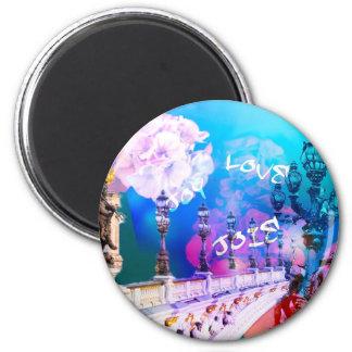Brücke der Freude und der Liebe Runder Magnet 5,7 Cm