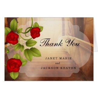 Brücke der Liebe, Natur-Hochzeit - Rote Rosen Karte