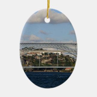 Brücke Dom Luis I, Porto, Portugal Keramik Ornament