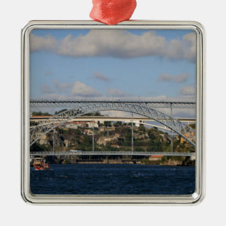 Brücke Dom Luis I, Porto, Portugal Silbernes Ornament