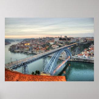 Brücke Dons Luis I, Porto Poster