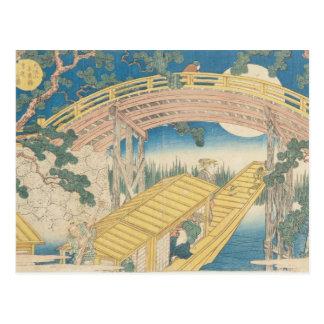 Brücke durch Mondschein, 'von den Ansichten des Postkarte