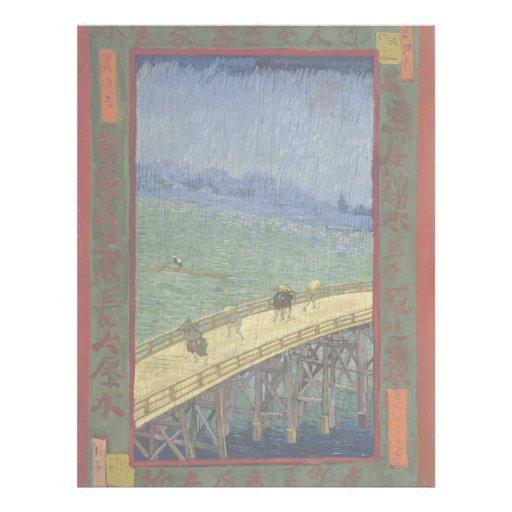 Brücke im Regen nach Hiroshige durch Vincent van Flyer